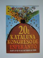 Esperanto,la  Langue Internationale,Kongreso à Olot En Espagne 1984 - Esperanto