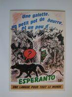 """Esperanto,la  Langue Internationale""""Une Galette,un Petit Pot De Beurre,et Un Peu D'..."""" - Esperanto"""