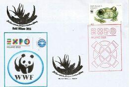 EXPO UNIVERSELLE MILANO 2015. Lettre WWF Avec Timbre WWF Du Pavillon De HAÏTI & Tampon Officiel EXPO (RARE) - W.W.F.