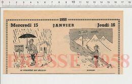 2 Vue Humour 1958 Pelle à Neige Pipi Chien Arbre Sapin Suicide Seine Parapluie Modélisme Voilier Enfant Mer De Glace231R - Vieux Papiers