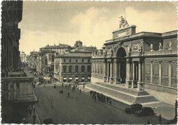 T3558 Roma - Via Nazionale - Palazzo Dell'Esposizione - Auto Cars Voitures / Viaggiata 1950 - Panoramic Views