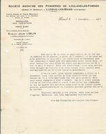 Jules Liblin ,fonderie De Loulans-les-Forges , Haute-Saône ,courrier De 1936 - 1900 – 1949