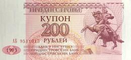 Transnistria 200 Rubles, P-21 (1993) - UNC - Moldavia