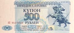 Transnistria 500 Rubles, P-22 (1993) - UNC - Moldavia