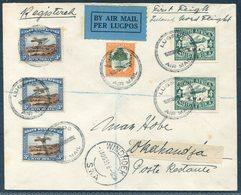 1931 South West Africa, Registered First Flight Cover Windhoek - Okahandja. Par Avion, Per Lugpos, Luftpost Airmail - África Del Sudoeste (1923-1990)