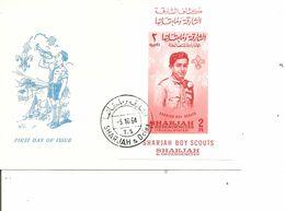 Scoutisme (  FDC De Sharjah De 1964 Avec BF à Voir) - Covers & Documents