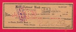 First National Bank, Meeteetse, Wyo, 1930 Check [#5362] - Assegni & Assegni Di Viaggio