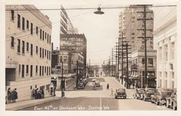 Seattle Washington, University District East 45th & University Way, Autos, C1940s Ellis #1138 Real Photo Postcard - Seattle