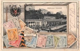 Karlsbad - Mühlbrunner Colonnade Mühlbrunnenkolonnade  Phylatisch -  Deutsche Briefmarken - Gaufrée Karlovy Vary - Repubblica Ceca