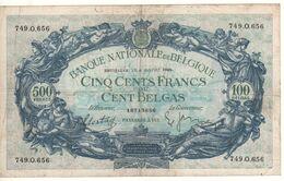 BELGIUM   500 Francs P109  ( Allegorical Women, Angels ) Dated 06.01.1939 - 500 Francs