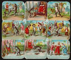 HAGELBERG - WH 8649 - SCRAP - DECOUPIS - DIE-CUT - Gaufré / Embossed - Fairy Tales - Chat Botté - Puss In Boots - Victorian Die-cuts