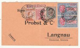 ESPRESSO 1922 20+60+1 L. +2X30 ESPRSSO TIMBRO MILANO LANGNAU BERN (KP30 - Storia Postale