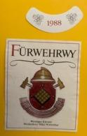15863 - Führwehrwy 1988 Weiniger Klevner Vin Des Pompiers - Etiquettes