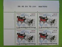 """Coin Daté Timbre France - Europa - Les Anciennes Routes Postales - Voiture """"de Poste"""" - 28.02.20 - 2020 - NEUF - 2010-...."""