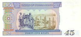 BURMA P. 64 45 K 1987 UNC - Myanmar