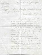 Lettre Du Maire De Cissac (Gironde) Au Conseiller Général, 20/2/1870 - Historical Documents