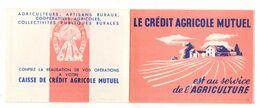Calendrier 1954 Le Crédit Agricole Mutuel Est Au Service De L'agriculture - Petit Format : 1941-60