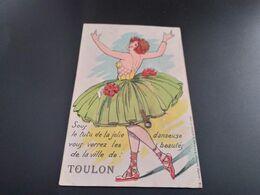 CPA.(83) Toulon A Système Avec Dépliant    (J.267) - Toulon