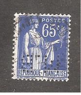 Perforé/perfin/lochung France No 365 M.B Sté Des Mines De Houille De Blanzy - Gezähnt (Perforiert/Gezähnt)