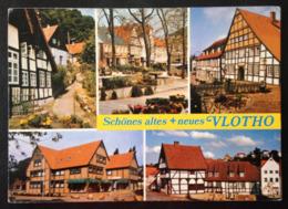 Germany, Circulated And Stamped Postcard, « VLOTHO », Multi Views, 1979 - Vlotho