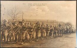 MILITARIA CPA MILITAIRES ALLEMANDS SOLDATS METZ DÉFILÉ DU 4 EME BAVAROIS RÉGIMENT D'INFANTERIE MUSICIENS - Guerre 1914-18