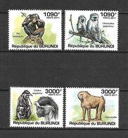Burundi 2011 Animals - Monkeys II MNH - Affen