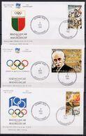 Malagasy - Madagascar 1994 Olympic Games, IOC Centenary Set Of 3 On 3 FDC - Altri