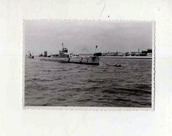 Cx 10 A1) Photo Original Military Navy Barco Militar Submarinos Submarines Belém Lisboa Portugal 1950's 7,5x11,5cm - Boats
