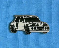 1 PIN'S //  ** RENAULT 5 MAXI TURBO / BLANCHE ** . (Locomobile) - Rallye