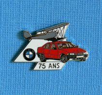1 PIN'S //  ** AVION BIPLAN  BMW 75 ANS ** . (BMW  Démons & Meiveilles) - BMW