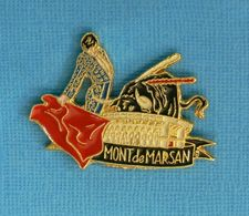 1 PIN'S //  ** FÉRIA / CORRIDA / ARÈNE / MONT DE MARSAN ** . (N'Émaux) - Corrida