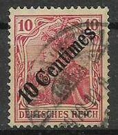 GERMANIA REICH UFFICI TEDESCHI NEL LEVANTE 1908  SOPRASTAMPATO UNIF.53 USATO VF - Allemagne