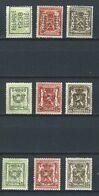 XX-/-923- COB 2003 -LOT DE PREOBLITERES  TYPOGRAPHIQUE De 1938/39/40 , TOUS DIFFERENTS = 0.15 € PIECE, VERSO SUR DEMANDE - Vorfrankiert