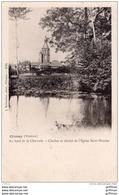 CIVRAY AU BORD DE LA CHARENTE CLOCHER ET CHEVET DE L'EGLISE SAINT NICOLAS PRECURSEUR TBE - Civray