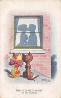 The Old, Old Story - Die Alte Geschichte - Couple - Chat - Baiser - Toit - Chats