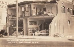 Long Beach California, 1933(?) Earthquake Damage Anaheim Boulevard, C1930s Vintage Real Photo Postcard - Long Beach