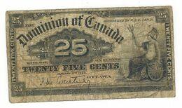 Dominion Of Canada , 25 Cents, 1900, Used, See Scan. - Canada