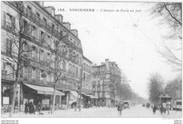 VINCENNES L'AVENUE DE PARIS AU FORT 1922 TBE - Vincennes
