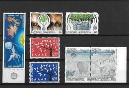 GRECE - EUROPA - Neufs ** - N° Yvert 774/775 - 1611/1612 - 1765/1766 - 1819/1820 - - Unused Stamps