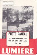 VILAOUT20-  COUTRAS  EN GIRONDE  POCHETTE PHOTOGRAPHE  RAMEAU  293  RUE GAMBETTA  ANNEE 1948 - Altri Comuni