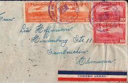 ! Luftpostbrief 1939 Aus San Jose, Costa Rica Nach Saarbrücken, Devisenüberwachung - Costa Rica