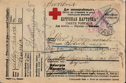 WWI , PRISONER OF WAR, RUSSIA,RED CROS , CENSOR - 1917-1923 Republic & Soviet Republic