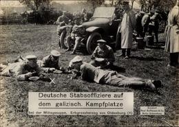 Riesen CPA Galizien, Deutsche Stabsoffiziere, Mittagssuppe, Erbgroßherzog Von Oldenburg, I.WK - Militaria