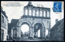 CPA Autun Antique Porte Romaine Dite D'Arroux Histoire Rome Cad 11 11 1921 Vers Beaune Voir Explic - Autun