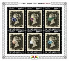 GUINEA BISSAU 2020 - Penny Black COVID-19. Official Issue [GB200317] - Stamps On Stamps