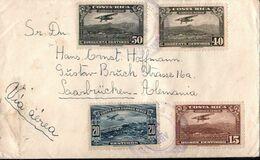 ! Airmail Cover, Luftpostbrief 1938 Aus Costa Rica Nach Saarbrücken, Devisenüberwachung - Costa Rica