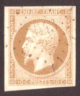 Napoléon III - N° 13B Bistre - Oblitération PC ?643 - 1853-1860 Napoléon III.