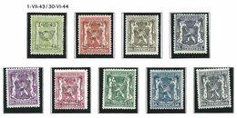 XX-/-936-   COB 2003 - PREOBLITERES TYPO De 1943 à 1944 (COMPLET), TOUS DIFFERENTS = 0.15 € PIECE, VERSO SUR DEMANDE - Vorfrankiert
