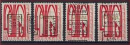 Zegel Nr. 258 éérste ORVAL Voorafgestempeld Nr. 4893 A + B + C + D LEUVEN 1929  LOUVAIN ; Staat Zie Scan ! - Roulettes 1920-29