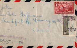 !  Airmail Cover 1941, Costa Rica Nach Frankfurt A.M,   Zensur, OKW, Censure, Censor - Costa Rica